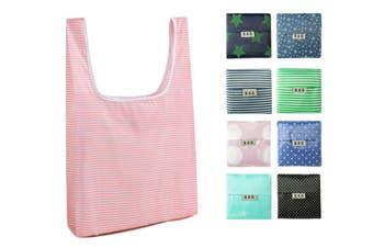 Folding Reusable Shopping Bags Portable Large Capacity Handbag Storage Bag(Random Color,2Pcs)
