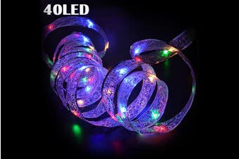 Xmas Lights 4M 40 LED Ribbon Window Curtain Lights String Lamp House Party Decor Christmas Tree LED Fairy String(Multicolor)