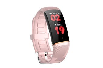 Smart Watch Fitness Tracker for iPhone Android Touch Screen Heart Rate Monitor Pedometer(Pink)