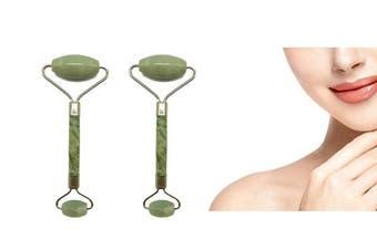 2Pack Facial Jade Face Roller Eye Neck Body Anti-aging Massager