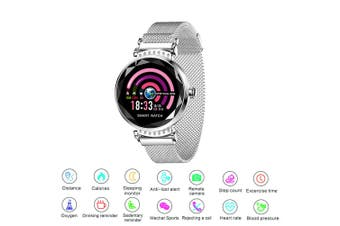 Fitness Smart Bracelet Watch Activity Tracker Women Lady Android iOS Heart Rate (Gold)