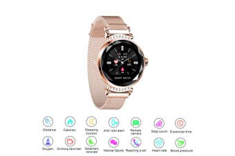 Fitness Smart Bracelet Watch Activity Tracker Women Lady Android iOS Heart Rate (Silver)