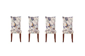 4Pack Stretch Dining Chair Covers Chair Mat Floral