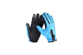 Unisex Touch Screen Gloves Windproof Waterproof Gloves,Blue