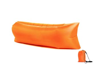 Inflatable Lazy Air Lounger Chair with Storage Bag Portable Inflatable Sofa Bed Beach Lazy Sleeping Bag