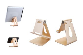 Adjustable Phone Holder Tablet Stand(Gold)