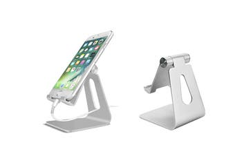 Adjustable Holder Phone Stand Tablet Holder(Silver)