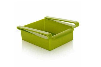 Fridge Organiser Refrigerator Sliding Drawer Shelf Green