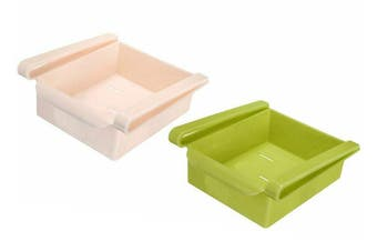 Fridge Organiser Refrigerator Sliding Drawer Shelf(2Pcs)