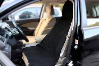 Portable Car Seat Cover Protector Sweat Dry Towel Black