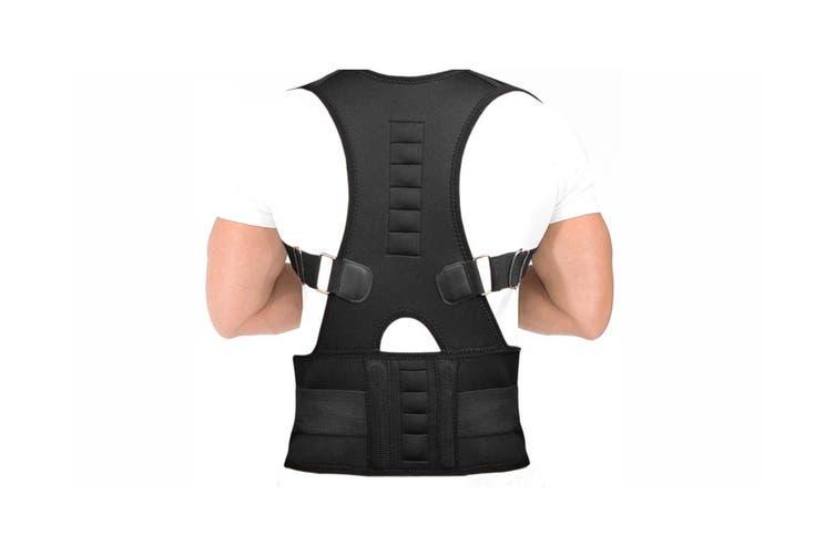 Adjustable Back Support Belt Brace Back Posture Corrector(1 Pack, Small)
