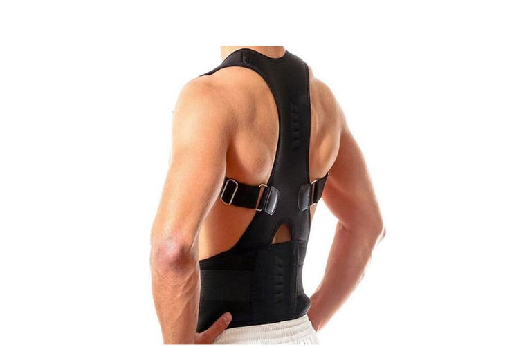 Adjustable Back Support Belt Brace Back Posture Corrector(2 Packs, Small)