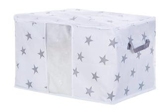 Clothes Blanket Storage Bag Organizer Foldable Zipper Box(Starry,2Pcs)