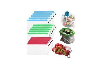 Cotton Mesh Bag Shopping Bags Vegetable Fruit Storage Pouch(15Pcs)