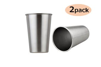 350ml Stainless Steel Drinking Cup Coffee Cup Single-walled Water Cup Reusable Water Mug(2 Packs)