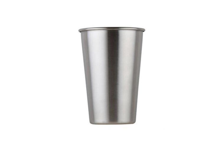 350ml Stainless Steel Drinking Cup Coffee Cup Single-walled Water Cup Reusable Water Mug(6 Packs)