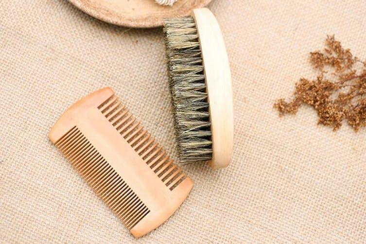 Men's Beard Comb Brush Beard Grooming kit(1 Pack)