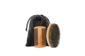 Men's Beard Comb Brush Beard Grooming kit(2 Packs)