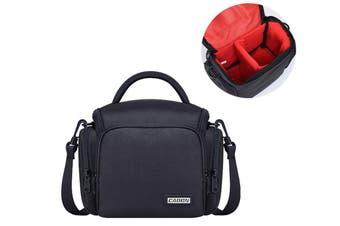 Shockproof Camera Bag Case Multiple Compartments Shoulder Bag with Hand Strap,S