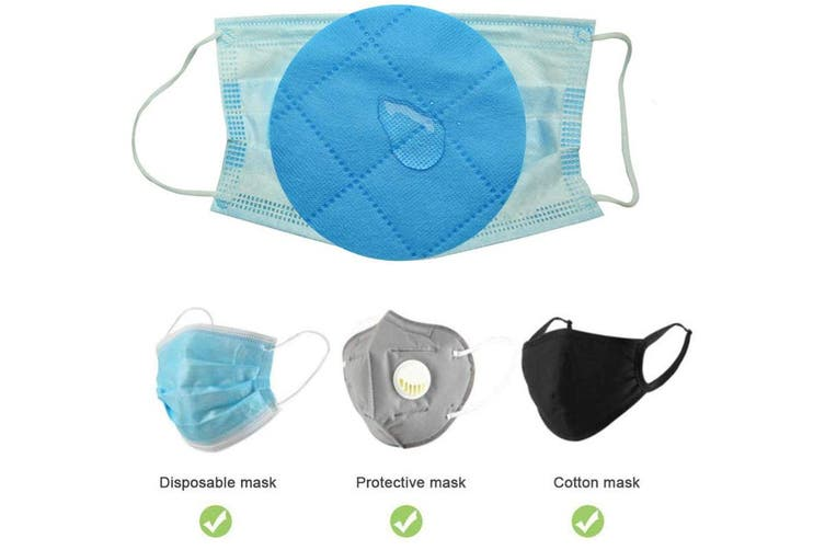 50-Pieces Disposable Filter Pads For Face Cover Shields(2 Pack)