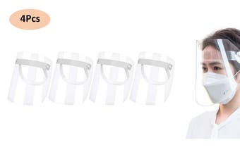 Full Face Splash Shield Mask Clear Protective Cover(4Pcs)