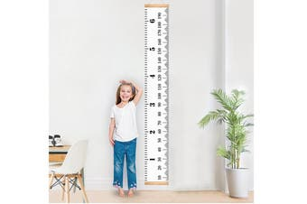 Wall Mounted Growth Chart for Kids Boys Girls Baby Canvas Height Chart Removable Hanging Wall Ruler Room Decor