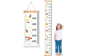 Height Chart for Kids Boys Girls Baby Canvas Growth Chart Removable Hanging Wall Ruler Room Decor