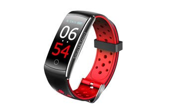 Smart Watch Heart Rate Monitor Waterproof Fitness Tracker Bluetooth Watch Band For Android IOS Women Men Wristband(Red)