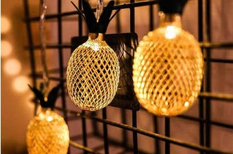 Novelty Pineapple String Lights 2M 20LED Fairy Lights Battery Operated Warm White for Christmas Home Wedding Party Bedroom Birthday Decoration