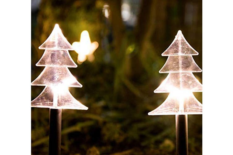 5pcs Set Led Christmas Decorative Lights Garden Path Stake Lights String Battery Operated For Indoor And Outdoor Holiday Decoration Xmas Tree Matt Blatt