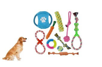 Dog Rope Toy Set Pet Puppy Chewing Toys(10Pcs/Set)