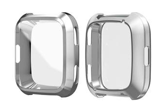 Watch Frame Compatible with Fitbit Versa Protective Case(Silver)