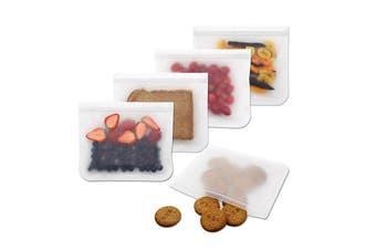 Food Storage Bag Freezer Zipper Bags(Large,5Pcs)