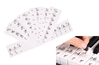 Keyboard Piano Stickers up to 88 Keys Set(1 Set)