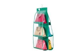 Hanging Storage Bags 6 Pockets Organizer Closet Rack Hanger Green