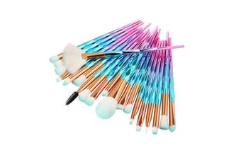 Make Up Brushes Set Makeup Face Powder Brush(Blue,20Pcs/Set)