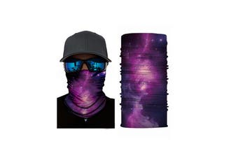 Cycling Mask Neck Tube Warmer Reusable Windproof Scarf UV Resistance Outdoor Sports Washable Face Neck Mask Cover(Purple)