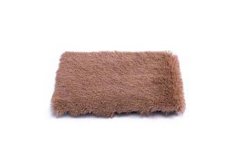 Pet Mat Plush Soft Warm Dog Cat Sleeping Pad,Khaki
