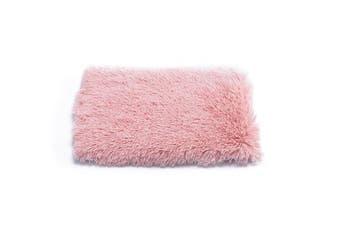 Pet Mat Plush Soft Warm Dog Cat Sleeping Pad,Pink