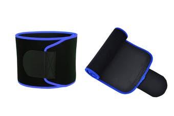 Waist Trainer Belt Fat Burner Sweat Weight Loss Body Shaper Slimming(Blue)