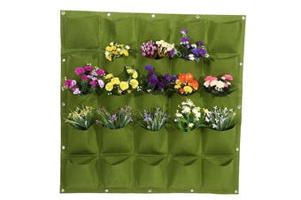 Hanging Plant Grow Bag 25 Pockets Wall Mounted Planting Bag Green