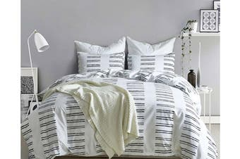 King 3 Pcs Bedding Set Luxury Soft Quilt Cover Pillowcase Style1