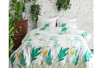 Double 3 Pcs Bedding Set Luxury Soft Quilt Cover Pillowcase Style3