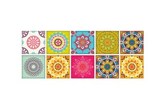 Wall Stickers Self Adhesive Tile Stickers 15x15cm (Style3,10Pcs)