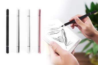 2 in 1 Touch Screen Pen Magnetic Suction Touch Pen Multi Purpose Stylus Drawing Tablet Pens Touch Pen for Phone iPad (Black)