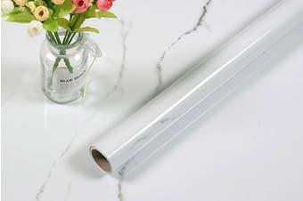 5-Meter Marble Wallpaper Film Furniture Wrap Sticker White-grey