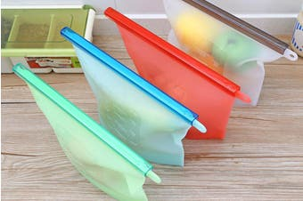 1.5L Food Storage Airtight Bags Food Sealer Pouch with Zip Lock(4Pack)