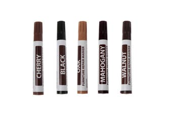 Furniture Touch Up Pen Marker Scratch Remover Pen Wood Floor Repair(5Pack)