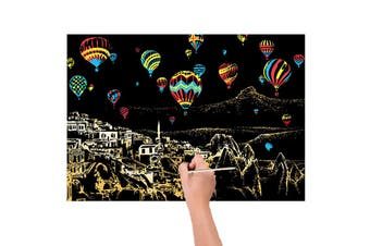Scratch Art Kit Painting Kids Crafts Magic Paper With Stick
