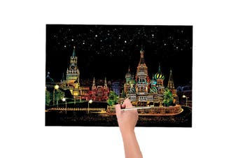 Scratch Art Kit Kids Crafts Magic Painting Paper With Stick